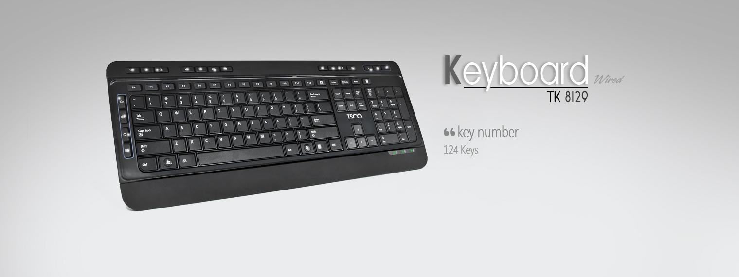 کیبورد تسکو مدل TK 8129 با حروف فارسی