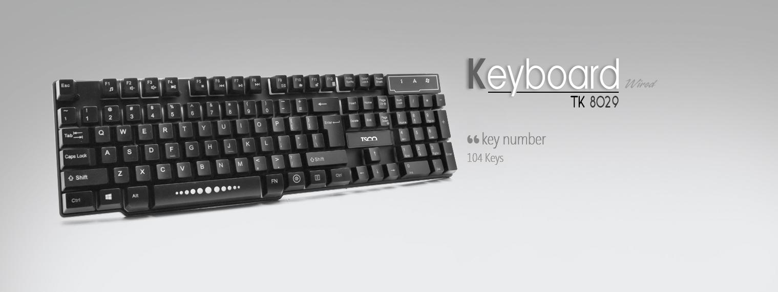 کیبورد تسکو مدل TK8029 با حروف فارسی